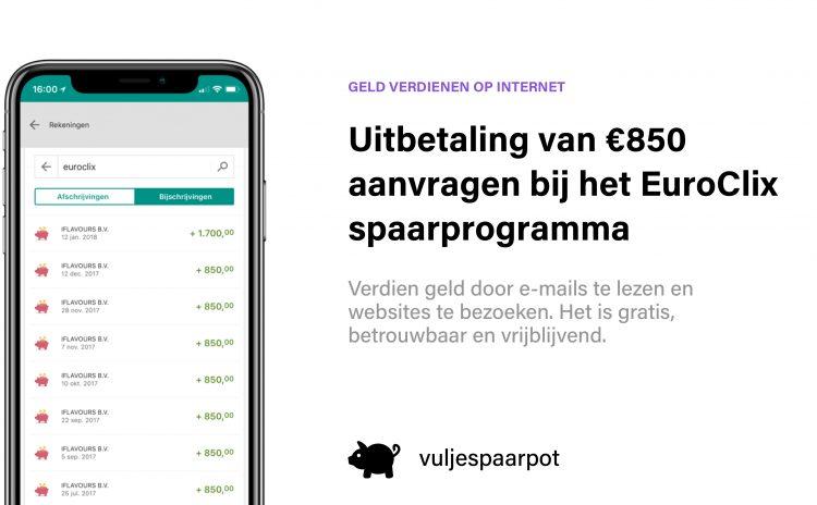 Uitbetaling aanvragen bij het EuroClix spaarprogramma